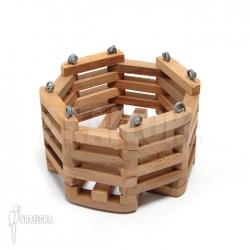 Wooden plant basket